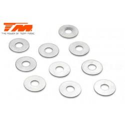 TM130137 Rondelles - 3.1 x 8 x 0.3mm (10 pces)
