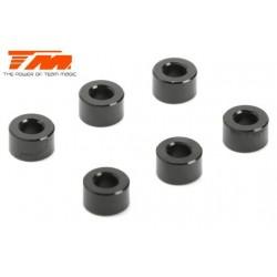 TM130141BK Rondelles - 3 x 6 x 3.50mm Aluminium - Noir (10 pces)