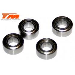 TM150510ST Roulements à billes - métrique - 5x10x4mm (4 pces)