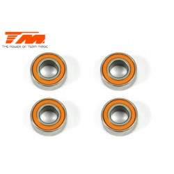 TM150612R Roulements à billes - métrique - 6x12x4mm étanche Orange (4 pces)