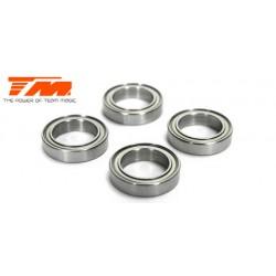TM151218 Roulements à billes - métrique - 12x18x4mm étanche (4 pces)