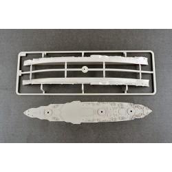 HRC34Y5045O FPV Racing Propellers - 3-blades - Nylon Fiber - 5045 Type - ID M5 / 7mm Hub - 1x CW + 1x CCW - Orange