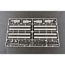 PL9021-18 Pneus - 1/8 Buggy - montés - Jantes V2 Blanc - 17mm Hex - Badland XTR (firm) (2 pces)