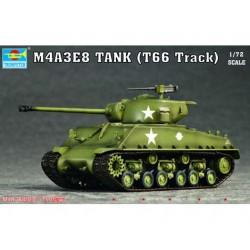 TRU07225 TRUMPETER M4A3E8 Tank T66 Track1/72
