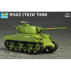 TRU07226 TRUMPETER M4A3 76T(W) Tank 1/72