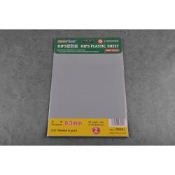 TRU08001 TRUMPETER 0.3mm HIPS plastic sheet A4