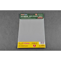 TRU08002 TRUMPETER 0.5mm HIPS plastic sheet A4