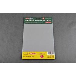 TRU08003 TRUMPETER 1.0mm HIPS plastic sheet A4