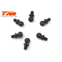 TM503117BK Pièce détachée - E4 - Rotules 5x4mm - Noir (6 pces)