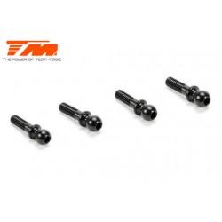 TM503127A Pièce détachée - E4 - Aluminium 7075 - Rotules de direction - Noir (4 pces)