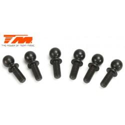 TM503138BK Pièce détachée - E4 - Rotules 5x7mm - Noir (6 pces)