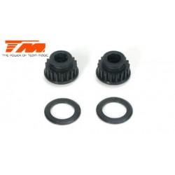 TM503222 Pièce détachée - E4 - Poulies Nylon 18D (2 pces)