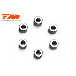TM503227 Rondelles - 3.1 x 6.5 x 5mm Aluminium (6 pces)