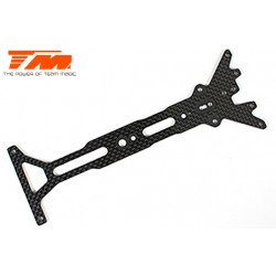 TM503232 Pièce détachée - E4 - Platine supérieure carbone 2mm