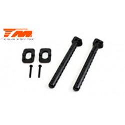 TM503301-1 Pièce détachée - E4 - Support de carrosserie arrière long 65mm (2 pces)