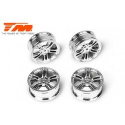 TM503315S Jantes - 1/10 Drift - 5 Spoke - 12mm Hex - silver (4 pces)