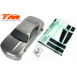TM503323MGA Carrosserie - 1/10 Touring / Drift - 195mm - Peinte - non percée - CMR Gris Metal
