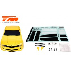 TM503323YA Carrosserie - 1/10 Touring / Drift - 195mm - Peinte - non percée - CMR Jaune