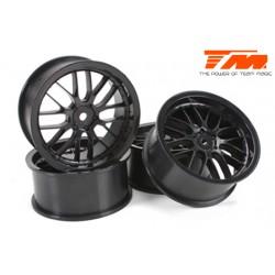 TM503331BK Jantes - 1/10 Drift - 2.2'' - 8 Spoke - 12mm Hex - Noir (4 pces)