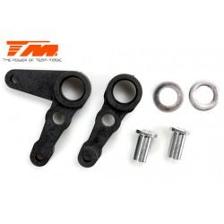 Pièces de carrosserie - 1/10 Touring / Drift - Scale - CNC Aluminium - Disque de frein Gunmetal & Pince Rouge (4 pces)