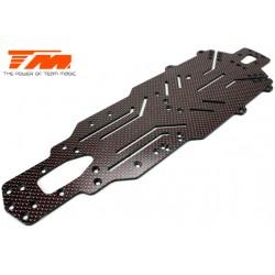 TM503369 Pièce détachée - E4D-MF Pro - Châssis carbone 2.5mm