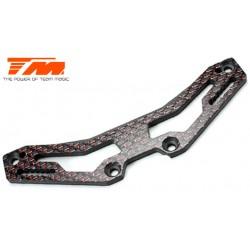 TM503376 Pièce détachée - E4D-MF Pro - Support d'amortisseurs avant carbone 3mm