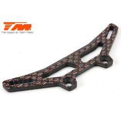 TM503377 Pièce détachée - E4D-MF Pro - Support d'amortisseurs arrière carbone 3mm