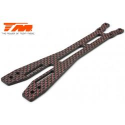 TM503378 Pièce détachée - E4D-MF Pro - Platine supérieure carbone 2.5mm