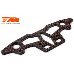 TM503385 Pièce détachée - E4D-MF Pro - Plaque supérieure de pare-choc carbone 2.5mm