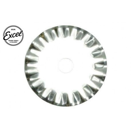 EXL60015 Outil - Lame de cutter rotatif - 28mm vague (2 pces) - Pour cutter 60025