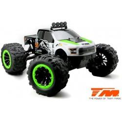 TM505007G Auto - Monster Truck Electrique - 4WD - RTR - Brushless 2250KV - 6S - Etanche - TM E6 RAPTOR – Noir/Vert