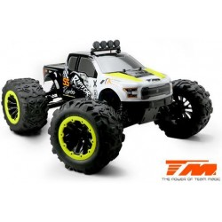 TM505007Y Auto - Monster Truck Electrique - 4WD - RTR - Brushless 2250KV - 6S - Etanche - TM E6 RAPTOR – Noir/Jaune