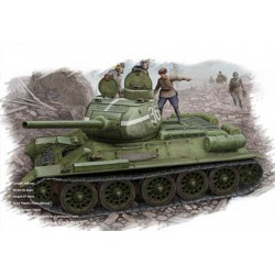 HBO84807 Russian T-34/85 '44 flattened 1/48