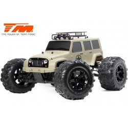 TM505008D Auto - Monster Truck Electrique - 4WD - RTR - Brushless 2250KV - 6S - Etanche - TM E6 J-STAR – Desert