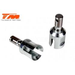 TM505111ST Pièce Option - E6 Trooper / Trooper II / E6 III - Sorties de différentiel acier AV/AR (2 pces)