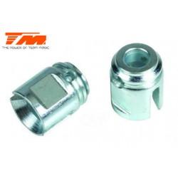 TM505118ST Pièce Option - E6 Trooper / Trooper II / E6 III - Sorties acier pour axe rigide central (2 pces)