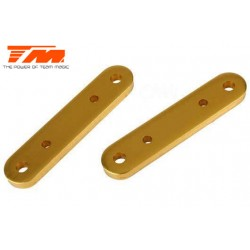 TM505127GD Pièce Option - E6 Trooper / Trooper II / E6 III - Aluminium anodisé Gold - Support de bras de suspension inférieur