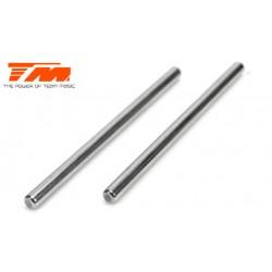 TM505128 Pièce détachée - E6 Trooper / Trooper II / E6 III - Axes de suspension inférieurs internes 4x70mm (2 pces)