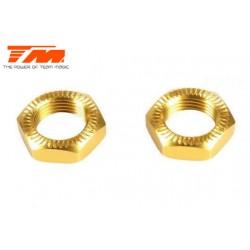 TM505138SGD-1 Pièce détachée - E6 III - Aluminium anodisé Gold - Ecrous de roues striés (2 pcs)