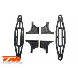 Aileron - 1/10 Touring - Transparent - Elite-TC Pre-Cut 190mm
