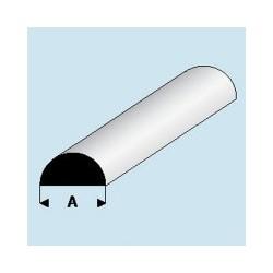401-61 Profilé plastique Demi-Rond 6,00 mm