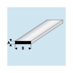 408-55 Profilé plastique Plat 0.5x 3 mm