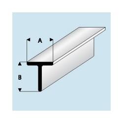 413-55 Profilé plastique T 3.5x 3.5 mm