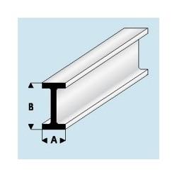 414-49 Profilé plastique I 1.25x 2.5 mm