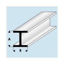 415-51 Profilé plastique H 1.5x 1.5 mm