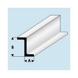 418-52 Profilé plastique Z 2.5x 5 mm