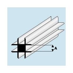 448-53 Profilé plastique Cross conn. 2 mm