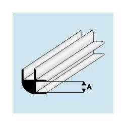449-51 Profilé plastique L-connector 1 mm