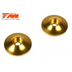 TM505214AGD Pièce Option - E6 Trooper / Trooper II / E6 III - Aluminium anodisé Gold - Rondelles d'aileron arrière (2 pces)