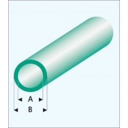 428-55 Tube plast. Rond Vert 330x3x4mm